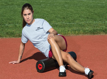 Using Foam Rollers for Track and Field Stretching
